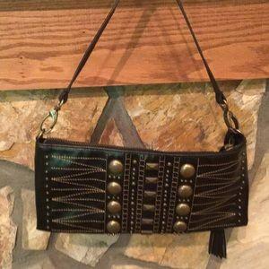 Cute handbag black leather